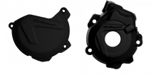 New Husqvarna FC 250 350 14 15 Clutch Ignition Cover Protector Combo Black